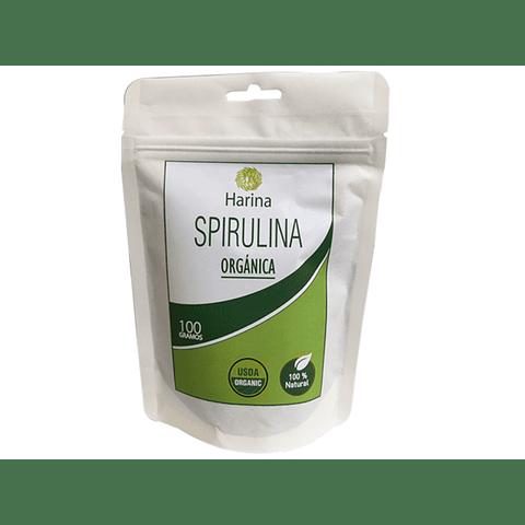 Spirulina orgánica en polvo, 100 gr, procedente de la India, certificación USDA