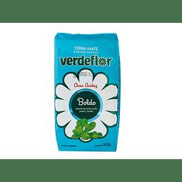 Yerba Mate Verde Flor  500 gr Boldo