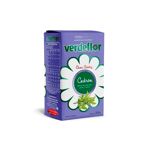 Yerba Mate Verde Flor  500 gr Cedrón