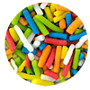 Mostacilla palitos de colores 100 gr - granel