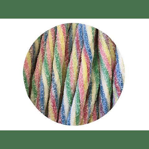 Regaliz Ácido Multicolor 100 gr - granel