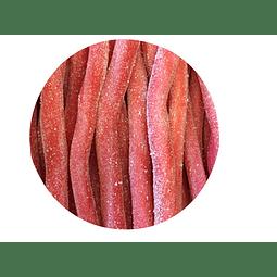 Regaliz Blando sabor Fresa ácido 100 gr - granel