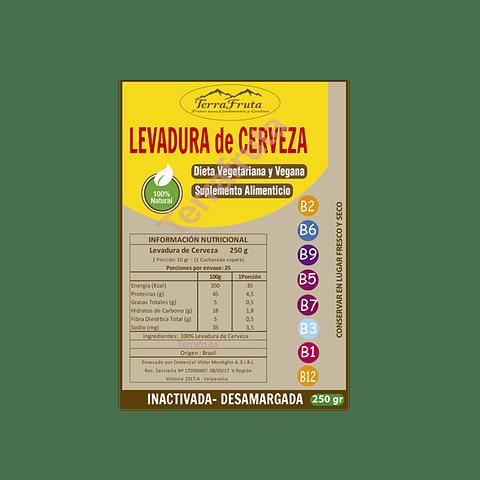 Levadura Cerveza 250 gr, inactivada y desamargada, suplemento alimenticio, dieta vegetariana y vegana.