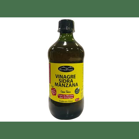 Vinagre de Sidra de Manzana - 500 cc -   (Orgánico, Con la Madre, Crudo, Sin Filtrar)