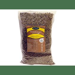Proteína de Soya Texturizada  color café - 500 gr - grano pequeño (Sucedáneo de Carnes Rojas)