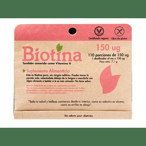 BIOTINA 150 ug - (110 porciones de 150 ug) - Peso Neto: 7,1 gr