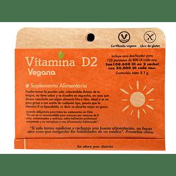 VITAMINA D2 - (125 porciones de 800 UI)  - Peso Neto: 8,1 gr