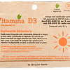 VITAMINA D3 - (125 porciones de 800 UI ) - Peso Neto: 8,1 gr - La Vitamina del Sol - VEGANA