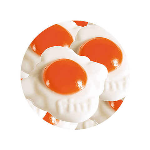 Huevos Fritos Gigantes Dulces - 100 gr aproximados - granel