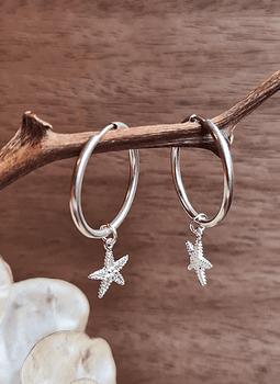 Hoops (M) + Star Pendant