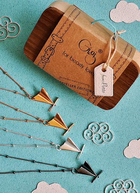 Paper Plane Necklace, Traveller Edition