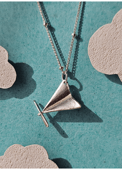 Paper Plane Necklace, Traveller Edition