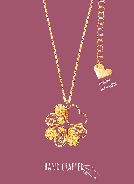 Lucky Charm, filigree necklace