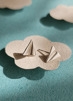 Paper Plane Earrings