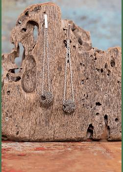 Suspended Earrings Coral