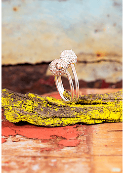 Spinning Coral Adjustable Ring