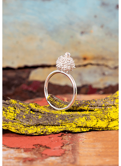Spinning Coral Ring