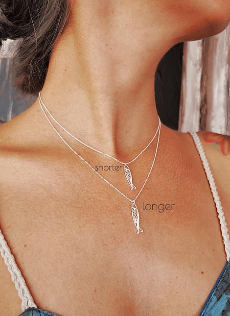 Sardine, Filigree Necklace