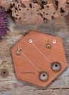 2 in 1 Suspended Sea Urchin Earrings