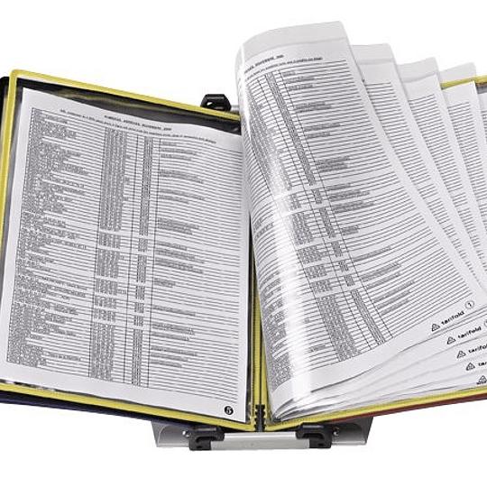 Informācijas statīvs FOLDFIVE TARIFOLD ar atbalstu un 10x5/A4 kabatām