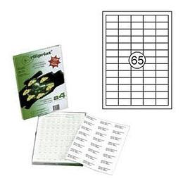 Наклейки Rillprint 38x21.2мм 100 листов формата А4