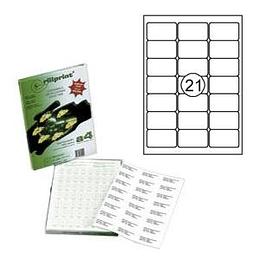 Наклейки Rillprint 63,5х38,1мм 100 листов формата А4