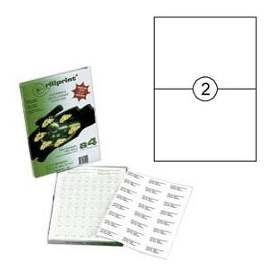 Наклейки Rillprint 210x148мм 100 листов формата А4