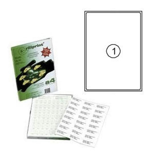 Наклейки Rillprint 199.6x289.1мм 100 листов формата А4