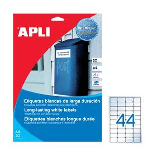 Наклейки APLI 48.5x25.4 мм A4/20 листов, прозрачные