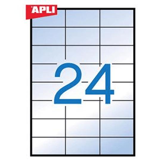 Наклейки APLI 70x37мм 20 листов, прозрачные