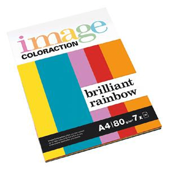 Бумага Image Coloraction Brilliant Rainbow A4 80г/м2 (7 цветов x 10 листов)