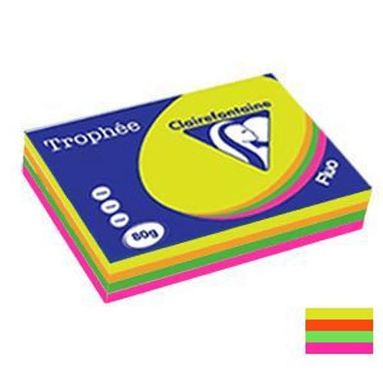 Бумага TROPHEE неоновое ассорти A4/500листов 80г/м2