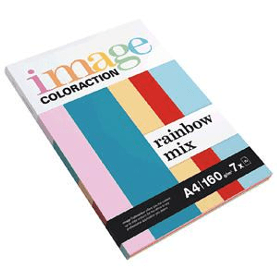 Бумага Image Coloraction Rainbow Mix A4 160г/м2 7x10 листов