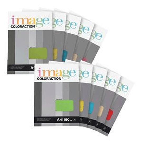 Бумага Image Coloraction A4 160г/м2 250 листов, кораллово-красная
