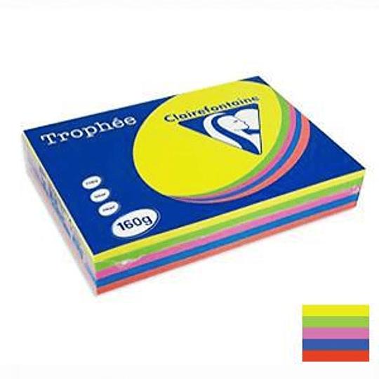Бумага TROPHEE 160г/м2 A4/250листов интенсивное ассорти