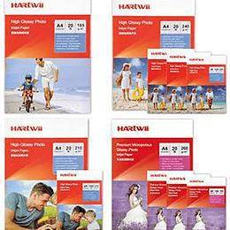 Pašlīmējošs fotopapīrs A4 135g 20lap glancēts Hartwii