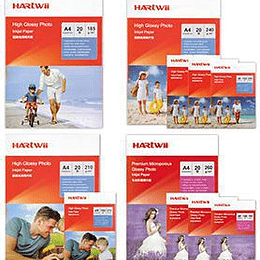 Pašlīmējošs fotopapīrs A4 135g 50lap glancēts Hartwii