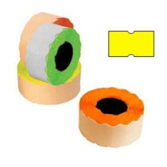 Маркировочная лента 21,5х12мм желтая, 1000шт / рулон