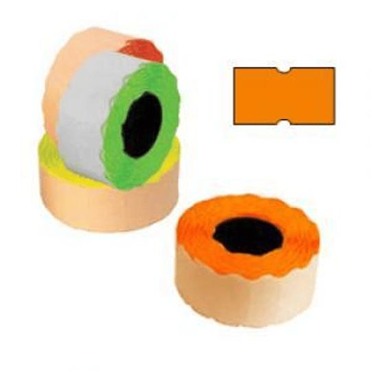 Маркировочная лента 21,5х12мм оранжевая, 1000шт / рулон