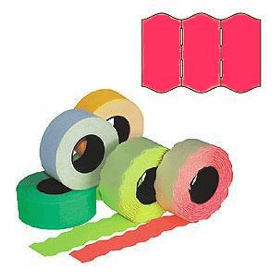 Маркировочная лента 22x12мм розовая 1000шт / рулон