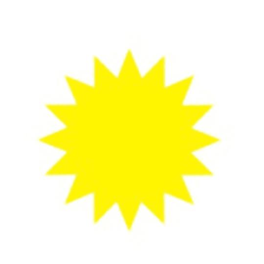 Картонные ценники в форме звезды