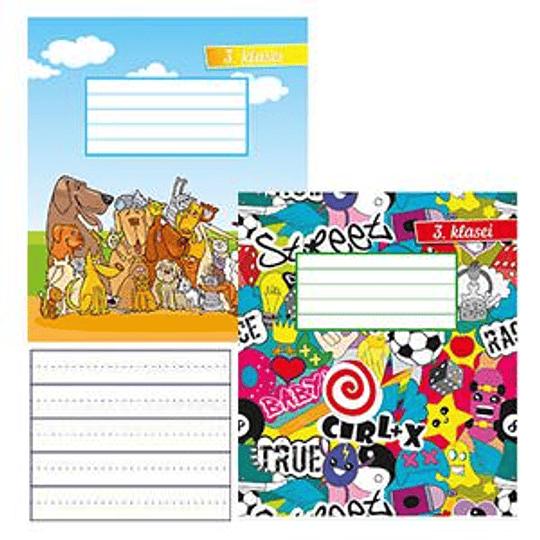 Тетрадь 12 листов в линейку для 3-х классов ABC