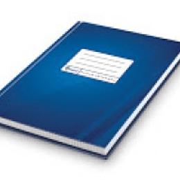 Офисная книга А4 / 192 стр, в клетку, синяя