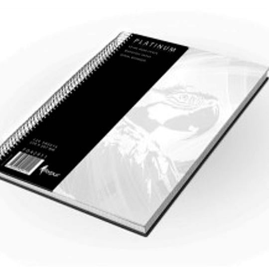 Офиссная книга со спиралью PLATINUM А4/120 станиц в клетку