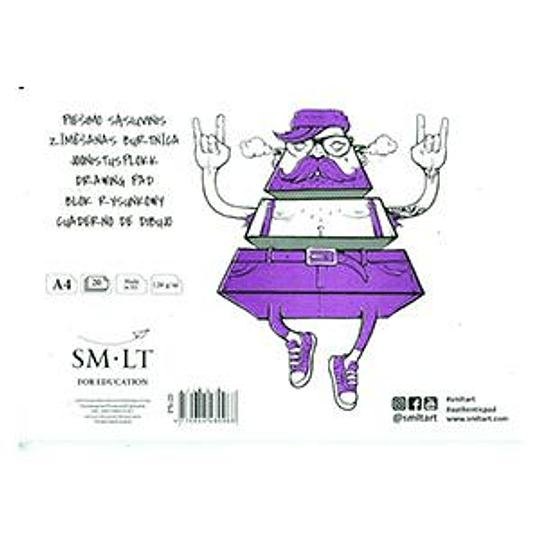 Альбом для рисования А4 / 20 страниц 120 г / м2, SMLT