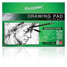 Альбом для рисования R205 A4/15 листов (200г/м2) Renaissance