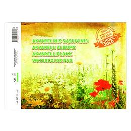 Akvareļu albums A4, 10 lapas, 200 g/m2, SMLT
