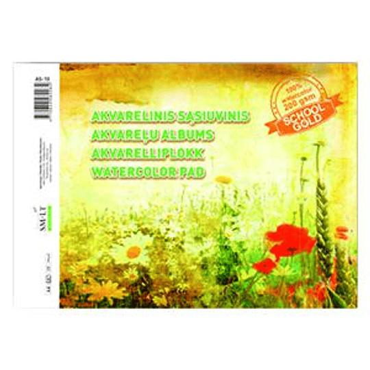 Акварельный альбом А4, 10 страниц, 200 г / м2, SMLT