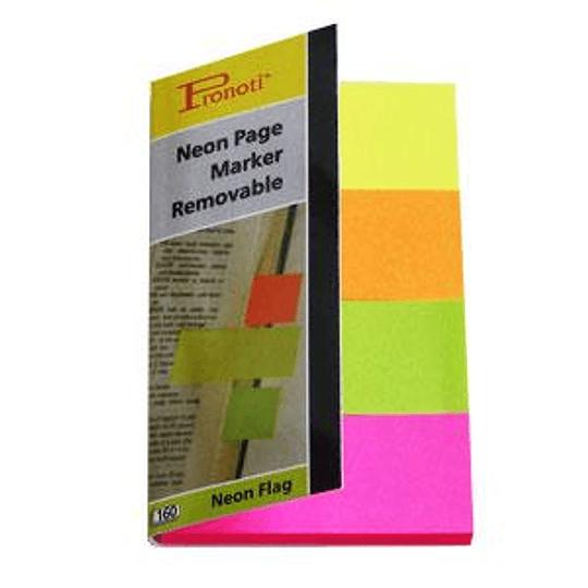 Индексы бумажные 20x48мм/4 неоновых цвета x 40 листов