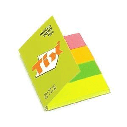 Индексы бумажные 20x50мм/4 флюорисцентных цвета x 40 листков